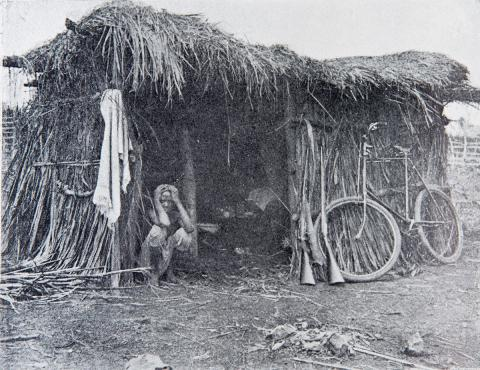 native and hut