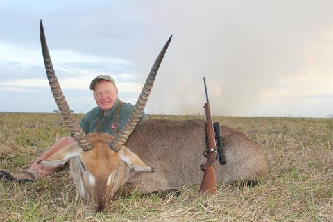 Craig with waterbuck