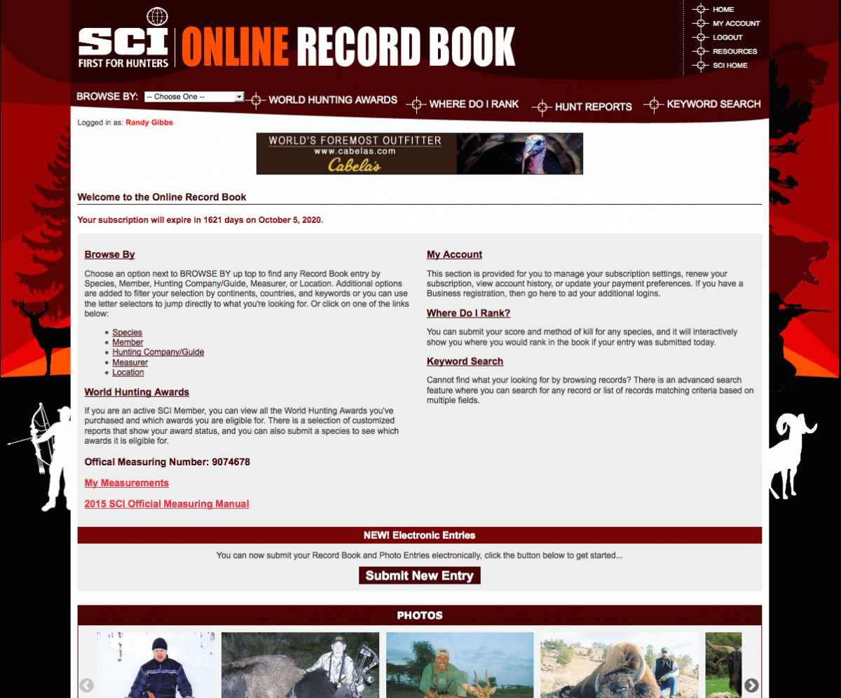 Record Book Online Entry